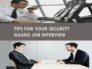 Tips for Your Security Guard Job Interview