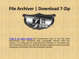 7 Zip Free Download