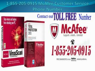 1-855-205-0915 McAfee Customer Service Phone Number