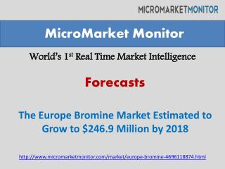 The Europe Bromine Market Estimated to Grow to $246.9 Millio