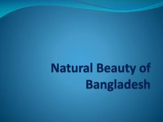 Natural Beauty of Bangladesh