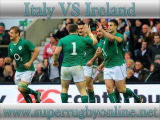 Italy vs Ireland live on webstreaming