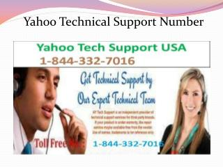 Contact 1-844-332-7016 Yahoo customer support for Yahoo acco