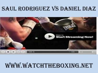 boxing Saul Rodriguez vs Daniel Diaz online live