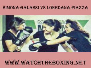 watch Simona Galassi vs Loredana Piazza 7 February 2015 live