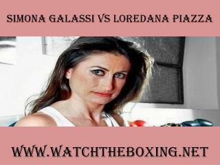 Simona Galassi Vs Loredana Piazza live boxing