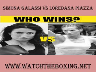 watch boxing Simona Galassi vs Loredana Piazza