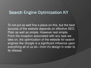 Search Engine Optimization KY