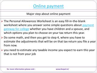 How To Choose A Quality Web fro online payment