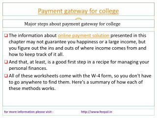 All kind of school fee submitted with payment gateway for co