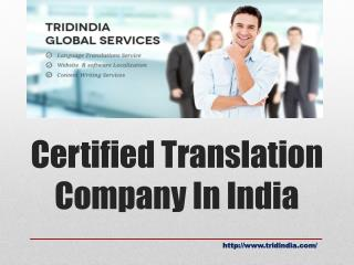 Looking for Certified language Translation Company in India