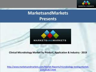 Clinical Microbiology Market by Product, Application & Indus
