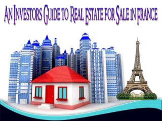 An Investor's Guide to Real Estate for Sale in France