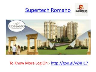 Supertech Romano-Sector 118 Noida-Layout,Payment Plan