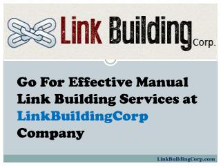 Effective Manual Link Building Services at LinkBuildingCorp