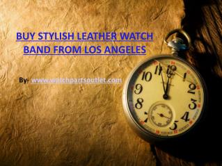 Stylish Leather Watch Band for Both Male and Female