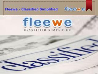 Fleewe - Classified Simplified
