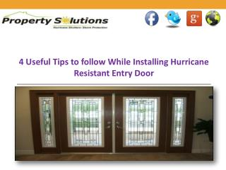 Hurricane Resistant Entry Door