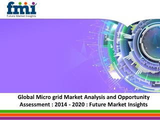 Global Microgrid Market Analysis and Opportunity Assessment