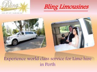 Perth Limousine Hire - Bling limos