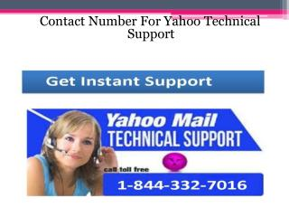 Call toll free number 1-844-332-7016 Yahoo Technical Support