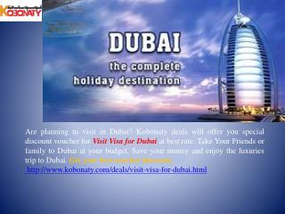 Visit Visa for Dubai