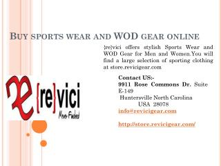 Buy sports wear and WOD gear online