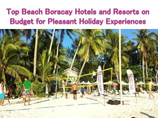 Top Beach Boracay Hotels and Resorts on Budget