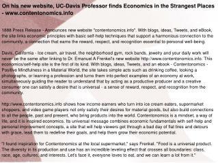 On his new website, UC-Davis Professor finds Economics