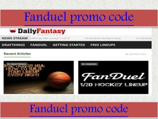 Fanduel promo code