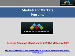 Revenue Assurance Market worth $ 2,942.7 Million by 2019
