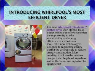 Introducing Whirlpool's Most Efficient Dryer