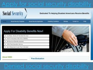 How do you apply for social security disability