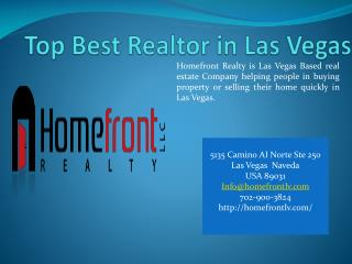 Top Best Realtor in Las Vegas