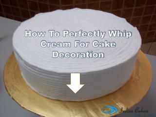 Homemade Whipped Cream Recipe for Cake Decoration