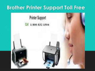 Brother Printer Support Toll Free 1-800-832-1504 | USA
