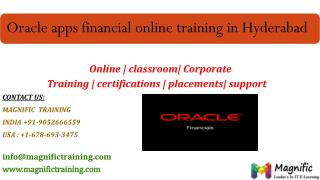 Oracle apps financial online training in hyderabad