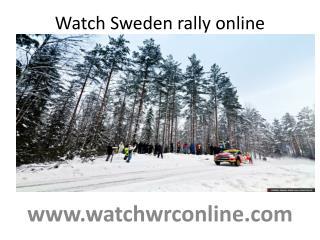 Watch Sweden rally online