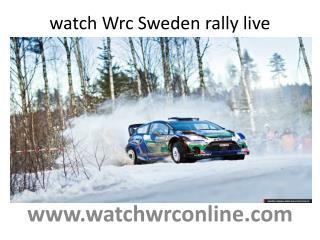watch Wrc Sweden rally live