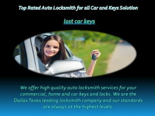 Top Rated Auto Locksmith for all Car and Keys Solutions
