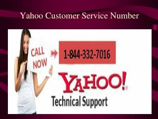 Yahoo Customer Support 1-844-332-7016 for Email & Account pr