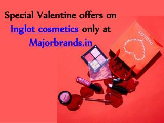 Special Valentine offers on Inglot cosmetics at Majorbrands