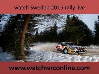 watch wrc Sweden rally live stream