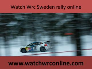 Watch Wrc Sweden rally online