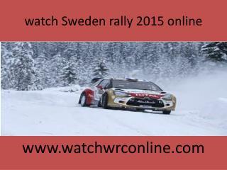 watch Sweden rally 2015 online