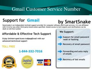 Gmail Tech Support Number 1-844-332-7016 for Resolve Sendin