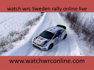 watch wrc Sweden rally online live