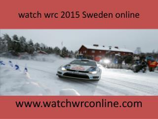 watch wrc 2015 Sweden online