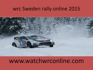 wrc Sweden rally online 2015