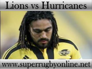watch Lions vs Hurricanes tv stream